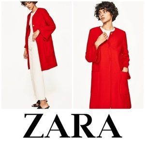 NWT Zara Red Bell sleeve jacket coat